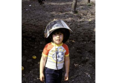 Child in helmet