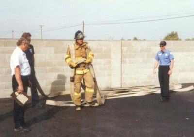 Fire station training
