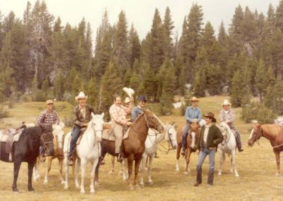Firefighters on horseback trip