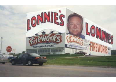 Lonnie's fireworks stand