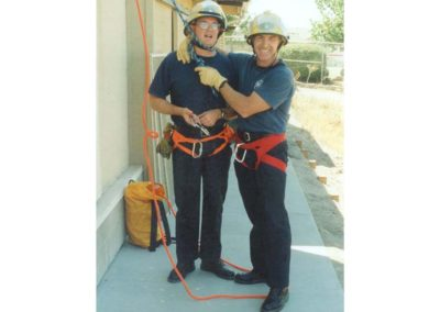 McGee and Cowger during rapelling training