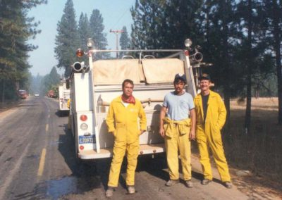 Terry Star, Tim Smith and Ron at Greely hill fire