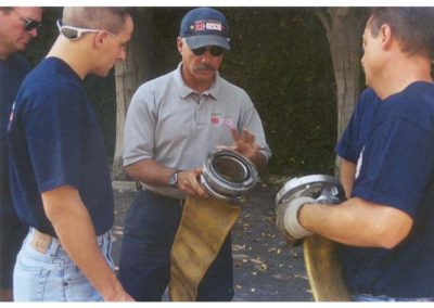 Wally giving hose class