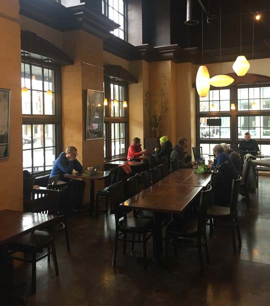 Urban Grind Coffeehouse And Roaster. Come Work Remotely. Fast WiFi.