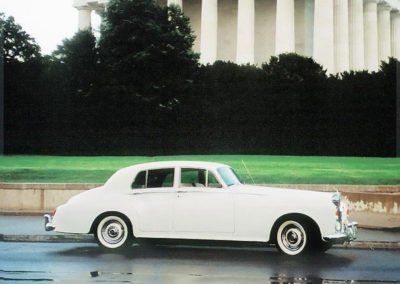 Photo of 1964 Rolls Royce in front of Lincoln Memorial in Washington DC