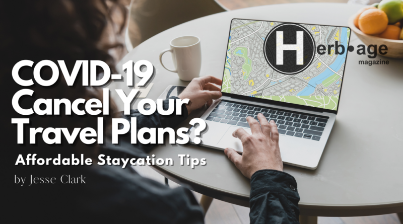 making travel plans on laptop