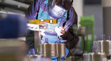 Hand Welding at Cedar Lake Engineering