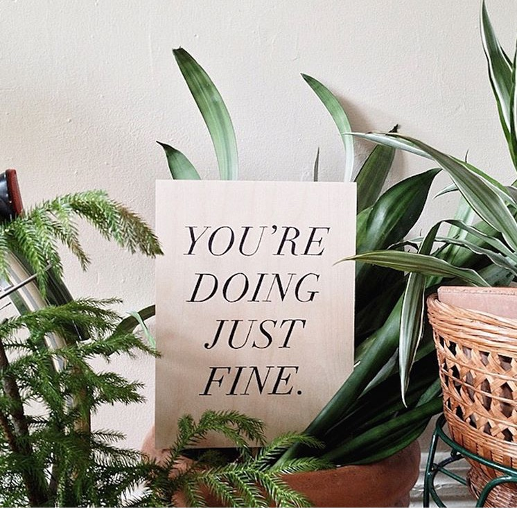 You're Doing Just Fine.