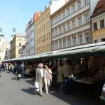 An outdoor market.