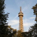 We climbed to the top of Petrin Tower.