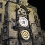 The astronomical clock.