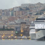 Our ship awaits in the Port of Naples.