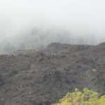 Fresh lava fields.