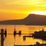 Sunrise in Souda Bay.