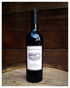 This 2010 Limited Cabernet Sauvignon is a decadent wine that was aged for 4 years in the barrel and boasts similar notes to the 2010 Reserve, but is continually changing. In 2010, Bruce produced only 9 barrels of Cabernet Sauvignon, but when he originally wanted to bottle, not all of the barrels were quite ready. So he let the unfinished barrels age for one additional year until they were perfect. With notes of blackberry, black cherry, and black pepper this is a surprisingly lighter Cabernet that has a beautiful finish and pairs perfectly with most foods, primarily Italian food that contains a lot of spice.