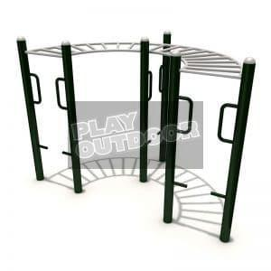 Curved Overhead Ladder(Monkey Bar) | PO-FE0083 | Outdoor Fitness