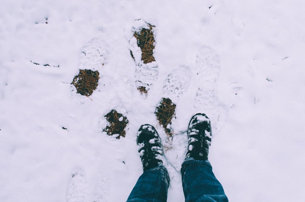 Salomon X Ultra Low II GTX Hiking Shoes in snow