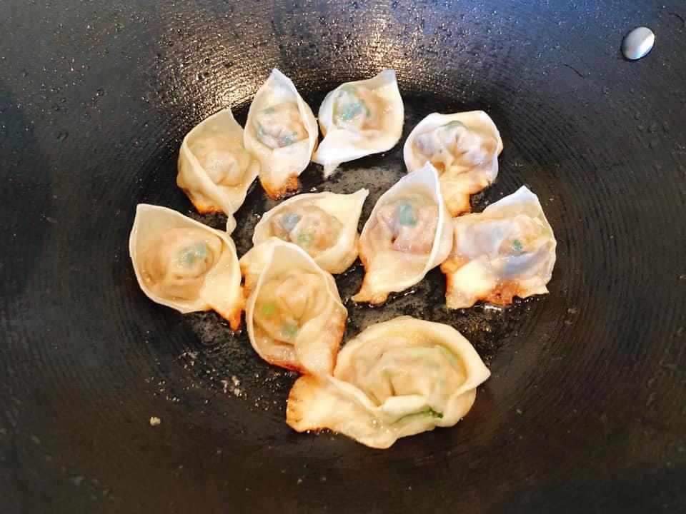 Pork and ginger potsticker dumplings