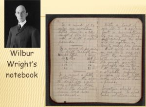 Wilbur Wright's Notebook, from