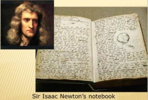 "Sir Isaac Newton's Notebook, from ""How Isaac Newton Worked."" How Stuff Works"