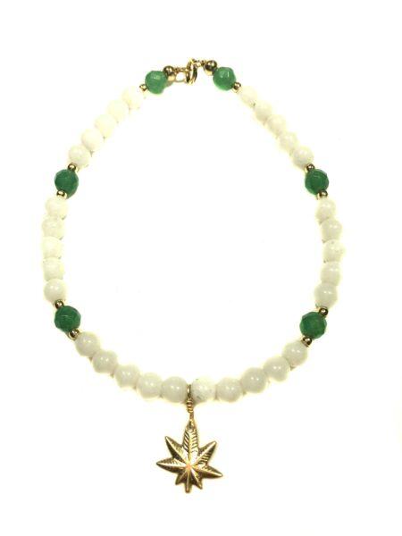 Mary Jane Aventurine White Jade Bracelet By Delicate Raymond