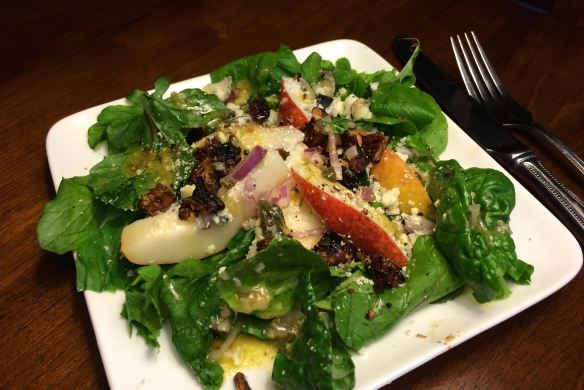 Red Pears and Arugula Salad