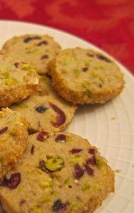 Pistachio Cranberry Butter Cookies