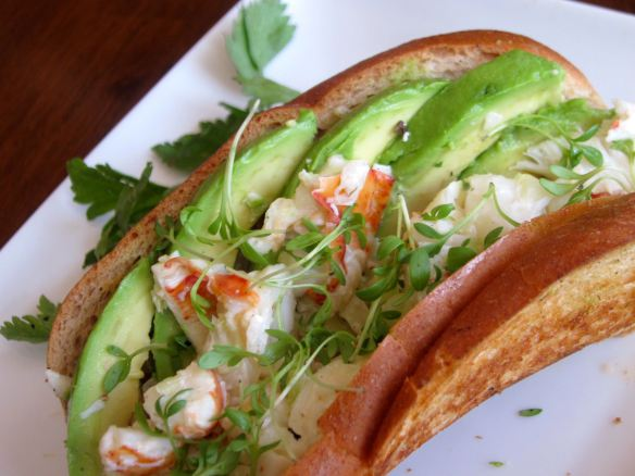 Lobster Roll with Avocado