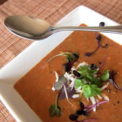 Indian Tomato Soup with Tamarind and Coconut