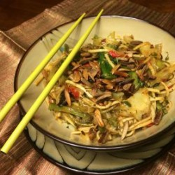 Chinese Stir Fry with Szechuan Sauce and Soba Noodles