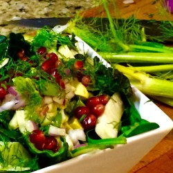 Pomegranate, Avocado, and Fennel Salad (Recipe)