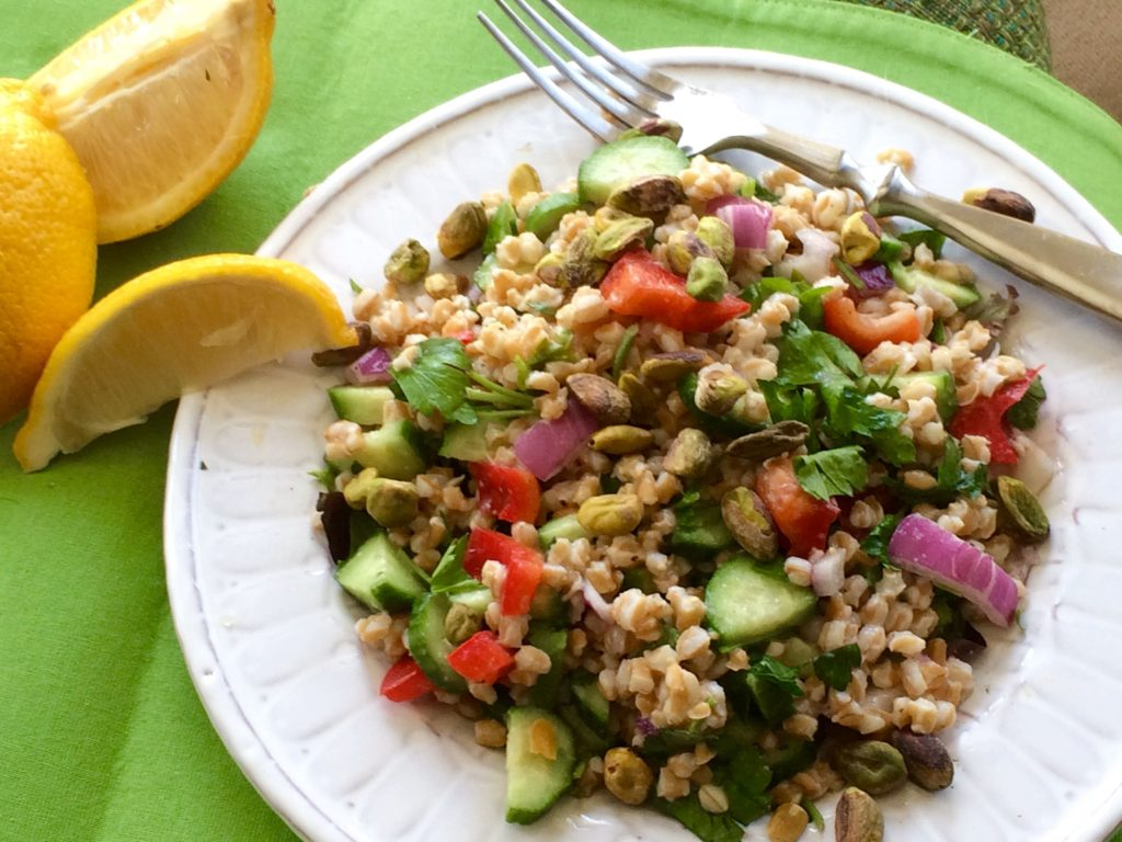 Mediterranean Farro Salad   #pkway