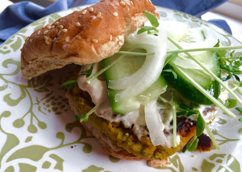 Falafel Burger   #pkway