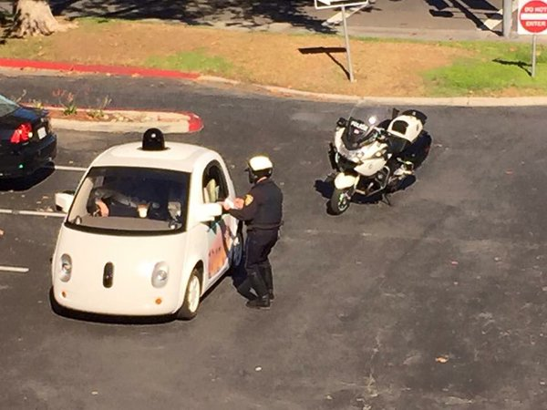 Google Self-Driving Car Gets Pulled Over