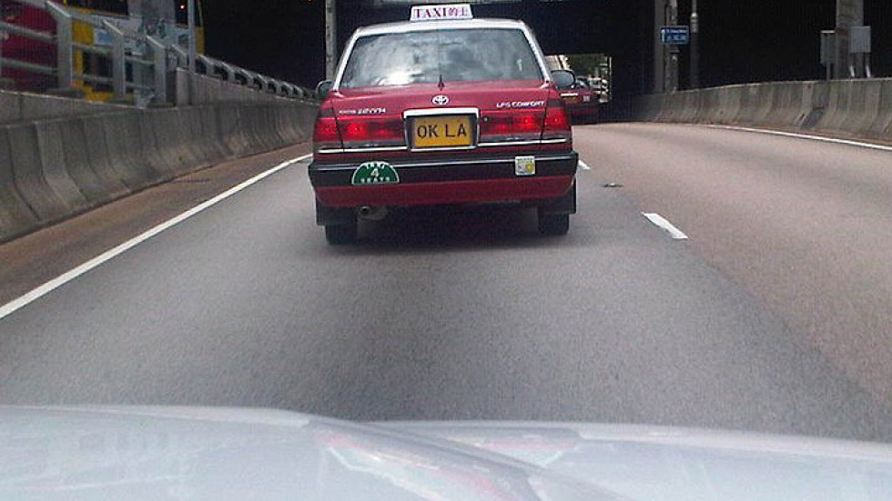 Awesome taxi license plate