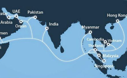 fibre cable hub, which connects Thailand, Malaysia, Vietnam, Singapore, UAE, Cambodia