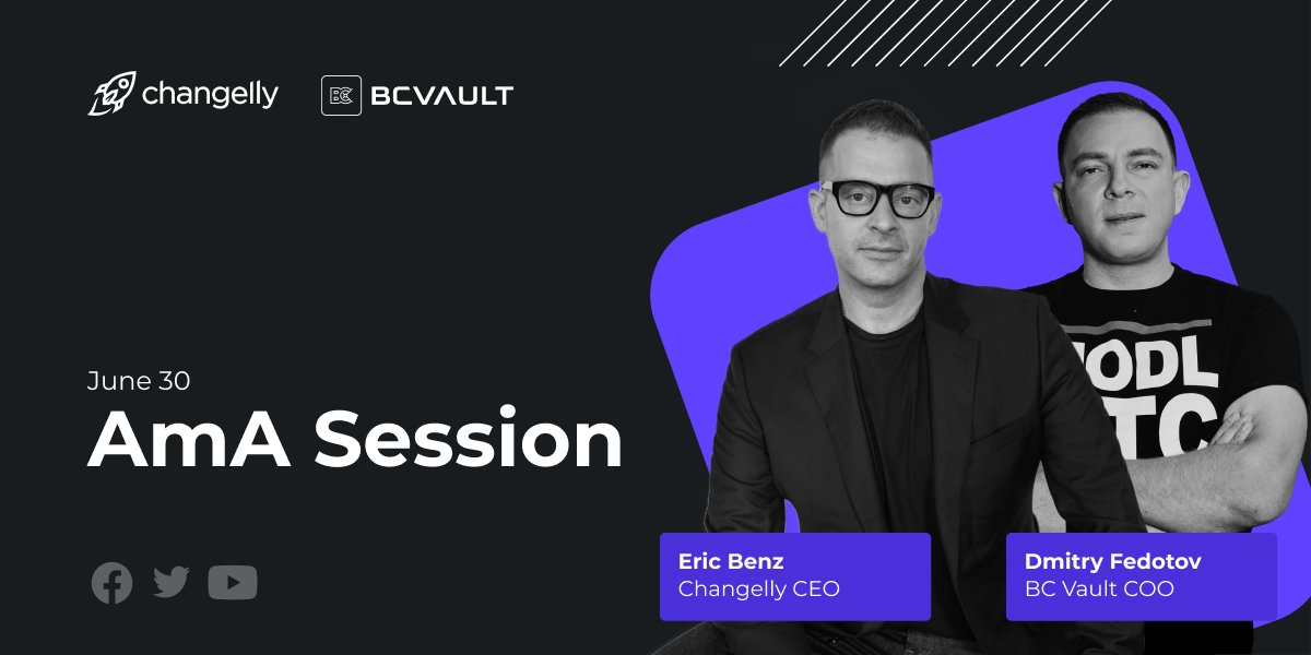 Dima Fedotov COO BC VAULT (Dmitry Fedotov) and Eric Benz Changelly