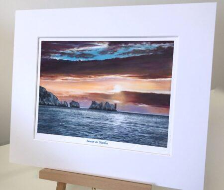 Sunset on Needles Pankhurst Gallery