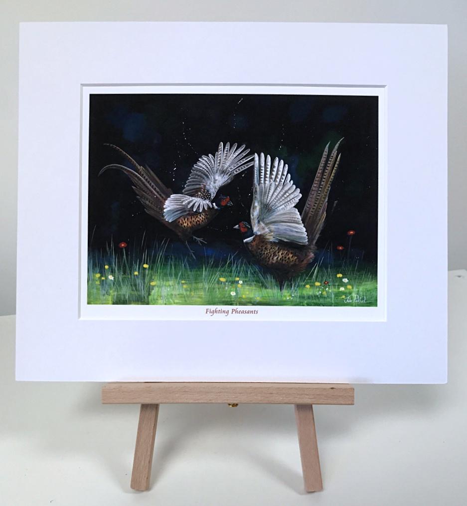 Fighting Pheasants Pankhurst Gallery