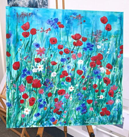 Scarlet Meadow Flower Art Pankhurst Gallery