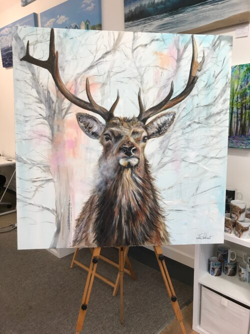 Red Stag Original Painting Pankhurst Gallery
