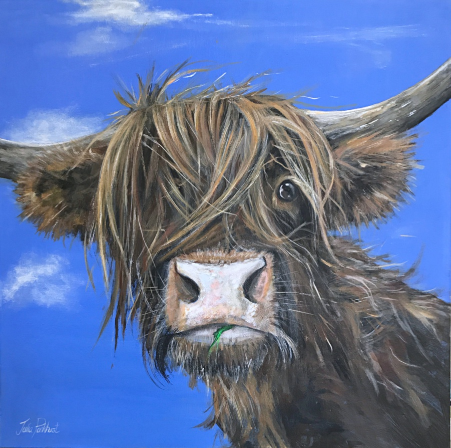 Gertie Highland Cow Painting Pankhurst Gallery