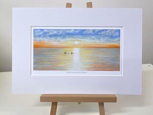 Paddle-Boarding seascape art gift print Pankhurst Gallery