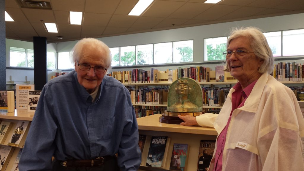 H.A. Hargreaves with wife, Lee, at Fishcreek Public Library