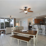 Open Dining-Livingroom with view of the Gulf