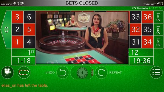 Play live roulette on your smartphone of Apple, Samsung or HTC mobile