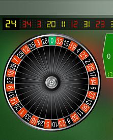 one zero roulette wheel