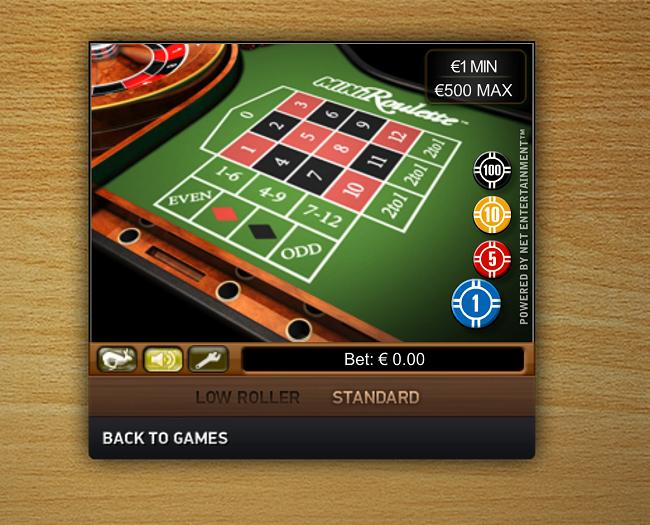 mini roulette netent software