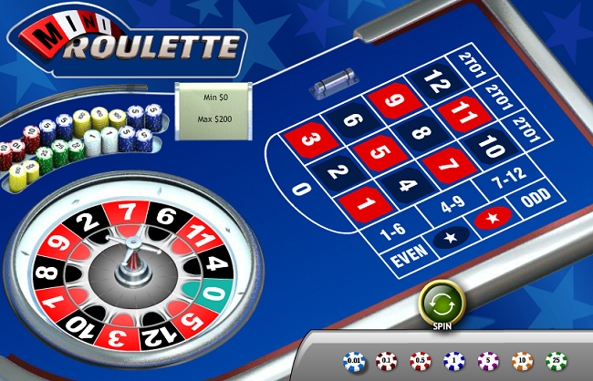 Playtech software for mini roulette