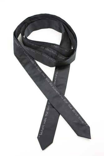 Black Satin Wrap-Around
